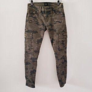 HUDSON Women's 26 Camo Moto Skinny Cargo Jeans